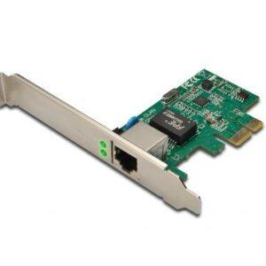 SCHEDA DI RETE PCI-EXPRESS GIGABIT ETHERNET DIGITUS CON STAFFA LOW PROFILE