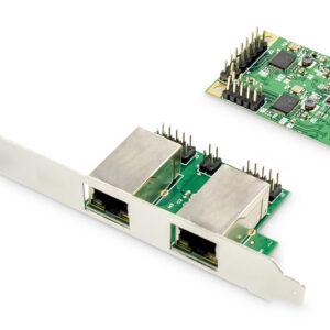 GIGABIT ETHERNET A 2 PORTE MINI PCI EXPRESS CARD SINGLE LANE