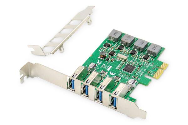 SCHEDA 4 PORTE USB 3.0 PCI-EXPRESS DIGITUS