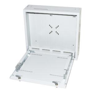 BOX A MURO DVR/NVR 2 SERRATURE CON RIPIANO APRIBILE E BLOCCAGGI REGOLABILI