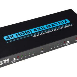 VIDEO MATRIX PER 4 DISPOSITIVI HDMI CON 2 TV HDMI