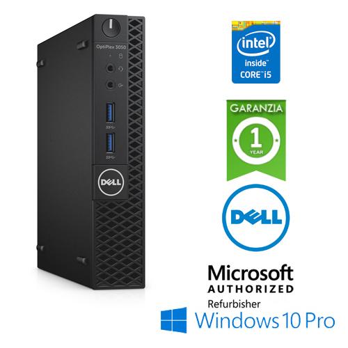 (REFURBISHED) PC Dell Optiplex 3050 USFF Core i5-7500T 2.7GHz 4Gb Ram 128Gb SSD WIFI No ODD Windows 10 Professional