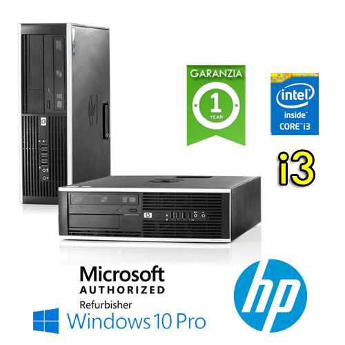 (REFURBISHED) PC HP Compaq 8100 Elite Core i3-530 2.9GHz 4Gb Ram 250Gb DVD Windows 10 Professional