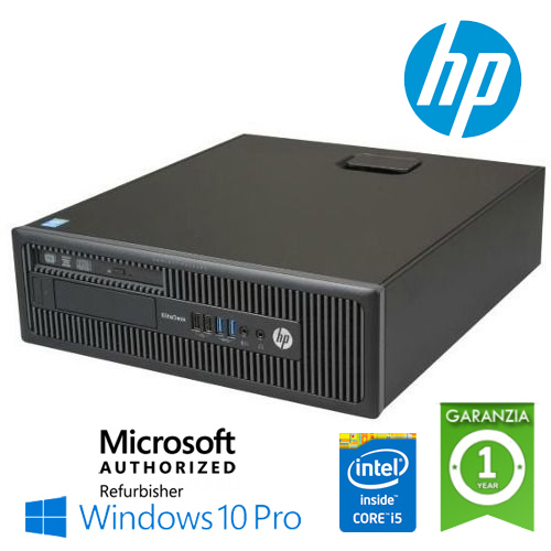 (REFURBISHED) PC HP EliteDesk 800 G1 SFF Core i5-4590 3.3GHz 8Gb 128Gb SSD DVD-RW Windows 10 Professional