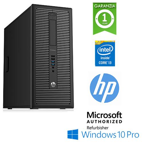 (REFURBISHED) PC HP ProDesk 600 G1 MT Core i3-4130 3.4GHz 8Gb 128Gb SSD DVD Windows 10 Professional TOWER