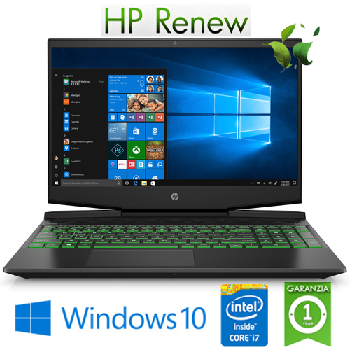 "(REFURBISHED) Notebook HP Pavilion 15-dk0039nl i7-9750H 16Gb 256Gb SSD 15.6"" NVIDIA GeForce GTX 1650 4GB Gaming Win. 10HOME"