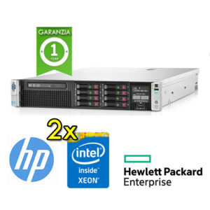 "(REFURBISHED) Server HP Proliant DL380p G8 (2) Xeon Quad Core E5-2609 2.4 64Gb Ram 600Gb 2.5"" (2) PSU Smart Array P420i/512"