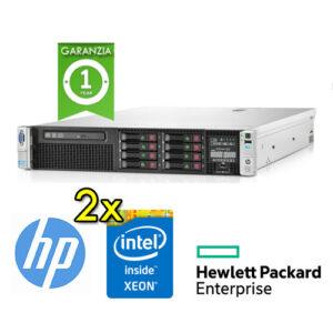 (REFURBISHED) Server HP ProLiant DL380P G8 (2)Xeon Octa Core E5-2670V2 2.5GHz 128Gb Ram 2x300GB SAS (2)PSU Smart Array P420i