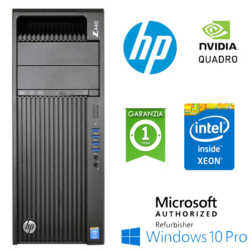 (REFURBISHED) Workstation HP Z440 Xeon HEXA Core E5-1650 v3 3.3GHz 32Gb 1Tb+256Gb SSD QUADRO K5200 8Gb Windows 10 Pro