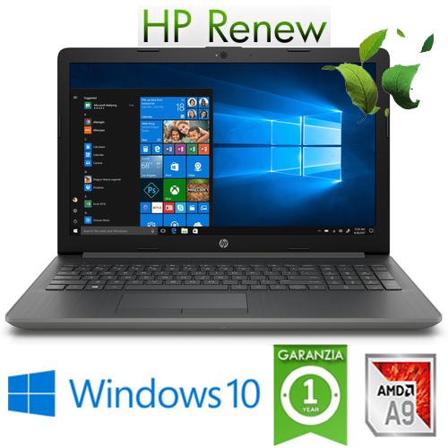 "(REFURBISHED) Notebook HP 15-DB0991NL AMD A9-9425 3.1GHz 8Gb 1Tb 15.6"" HD SVA DVD-RW Windows 10 HOME"