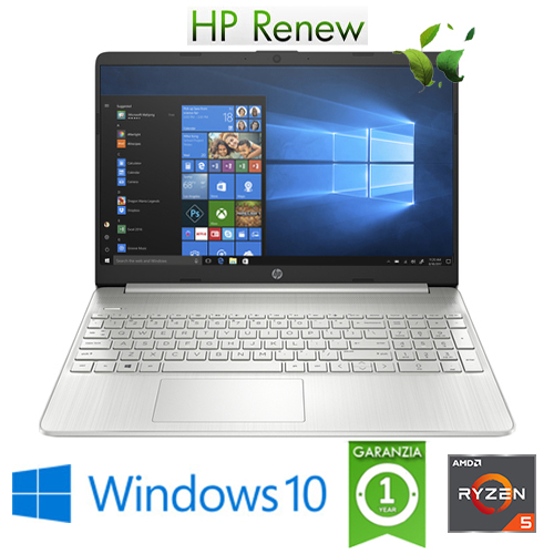 "(REFURBISHED) Notebook HP 15s-eq0050nl RYZEN5-3500U 2.1GHz 8Gb 256Gb SSD 15.6"" FHD LED Windows 10 HOME"