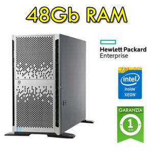 (REFURBISHED) Server HP Proliant ML350p G8 Xeon Quad Core E5-2620 15Mb Cache 48Gb Ram 1800GB Rack (2) PSU Tower