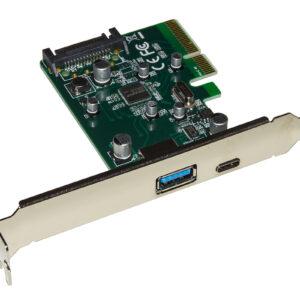 SCHEDA PCI-EXPRESS 1 PORTA USB 3.0 + 1 PORTA USB-C
