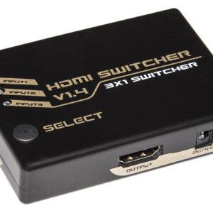 SWITCH HDMI 3 PORTE 4Kx2K@30Hz VERSIONE 1.4. CON TELECOMANDO