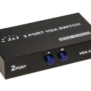 SWITCH MANUALE VGA PER 2 PC CON UN MONITOR VGA