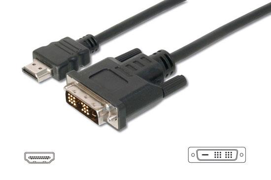 CAVO HDMI 19 POLI TIPO A MASCHIO - DVI-D 18+1 POLI MASCHIO MT. 3